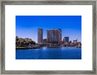 Downtown St. Petersburg Framed Print by Marvin Spates