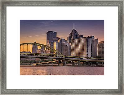 Downtown Steel Framed Print