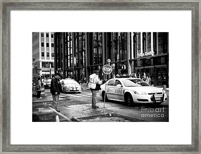 Downtown Stop Framed Print