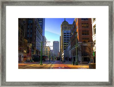 Downtown Sunday Morning In February Framed Print