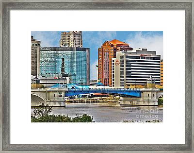 Downtown Toledo Riverfront Framed Print