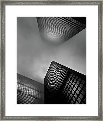 Framed Print featuring the photograph Downtown Toronto Fogfest No 1 by Brian Carson