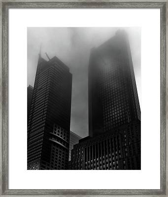 Framed Print featuring the photograph Downtown Toronto Fogfest No 2 by Brian Carson