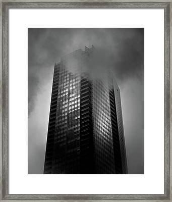 Downtown Toronto Fogfest No 24 Framed Print by Brian Carson