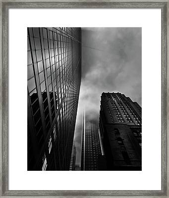 Framed Print featuring the photograph Downtown Toronto Fogfest No 4 by Brian Carson