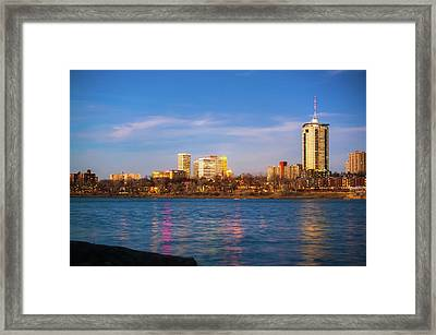 Framed Print featuring the photograph Downtown Tulsa From A Distance - Oklahoma Skyline  by Gregory Ballos