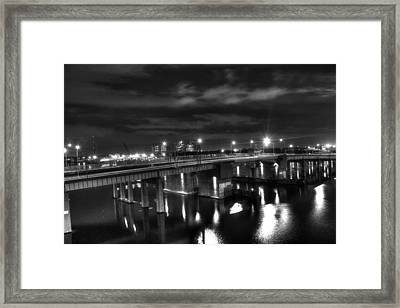 Downtown Tunnel Bridge Black And White Framed Print by Shannon Louder