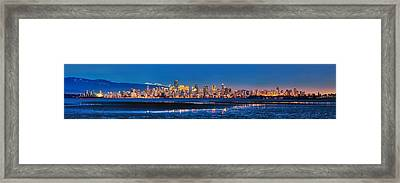 Downtown Vancouver From Spanish Banks Beach Framed Print