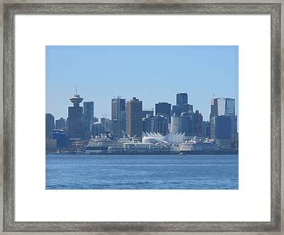 Downtown View From North Vancouver Framed Print