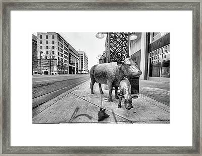 Framed Print featuring the photograph Downtown Wichita by JC Findley