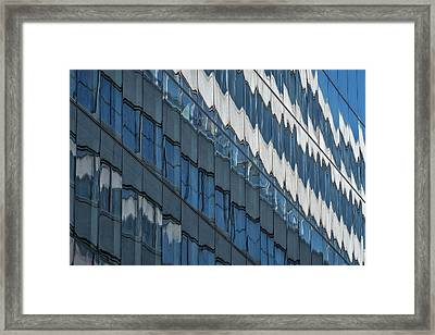 Framed Print featuring the photograph Downtown Window Reflections #2 - Washington by Stuart Litoff