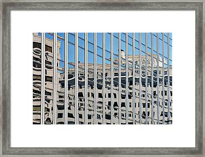 Framed Print featuring the photograph Downtown Window Reflections - Washington by Stuart Litoff
