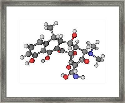 Doxycycline Antibiotic Molecule Framed Print by Laguna Design
