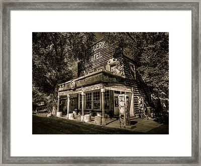 Doyle Grocery And Hotel Framed Print by Scott McGuire