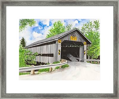 Doyle Road Bridge Framed Print