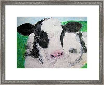 Framed Print featuring the painting Dozing by Barbara Giordano