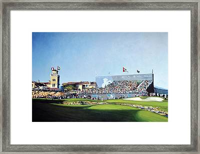Dp World Tour Championship 2015 - Open Edition Framed Print by Mark Robinson