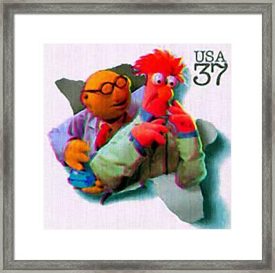 Dr Bunsen Honeydew And Beaker Framed Print by Lanjee Chee