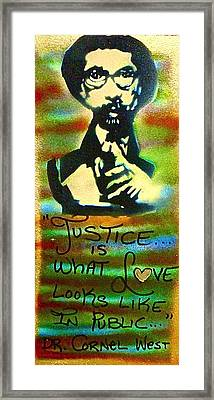 Dr. Cornel West Justice Framed Print by Tony B Conscious
