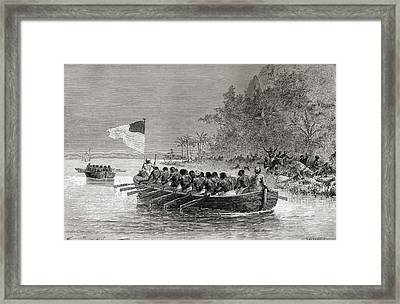 Dr. David Livingstone In The First Framed Print by Vintage Design Pics