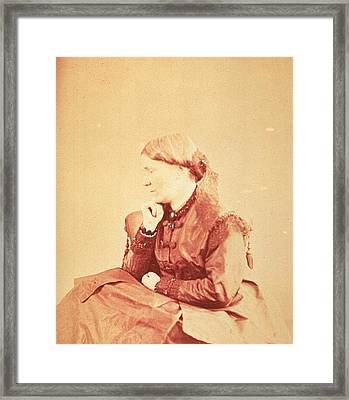 Dr. Elizabeth Blackwell 1821-1910 Framed Print by Everett