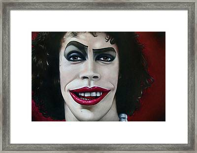 Dr. Frank-n-furter Framed Print by Kalie Hoodhood
