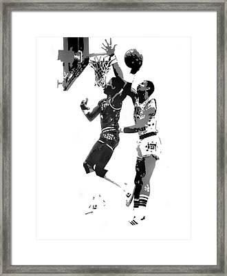 Dr. J And Kareem Framed Print by Ferrel Cordle
