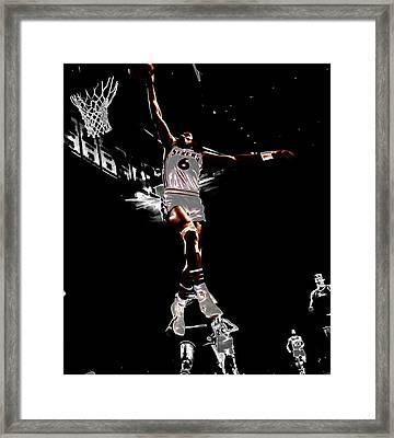 Dr J Slam Framed Print by Brian Reaves