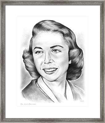 Dr. Joyce Brothers Framed Print by Greg Joens
