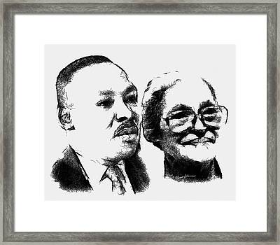 Dr. King And Mrs. Parks Framed Print
