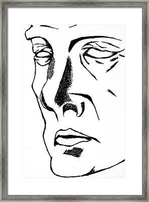 Dr Manhattan Bw Framed Print by Jera Sky