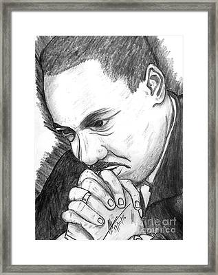 Dr Martin Luther King Jr  Framed Print by Collin A Clarke