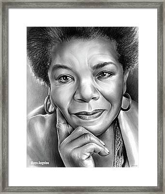 Dr Maya Angelou Framed Print by Greg Joens