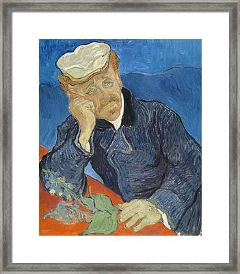 Dr Paul Gachet, 1890 Framed Print by Vincent Van Gogh