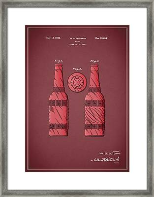 Dr Pepper Patent 1936 Framed Print by Mark Rogan