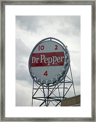 Dr. Pepper Sign - Roanoke Virginia Framed Print