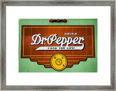 Dr Pepper Truck Sign Framed Print by Stephen Stookey