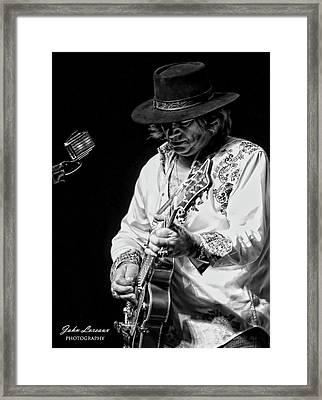 Dr. Phil Bw Framed Print