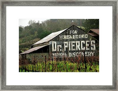 Dr. Pierce's Barn 1 Framed Print by Pauline Darrow