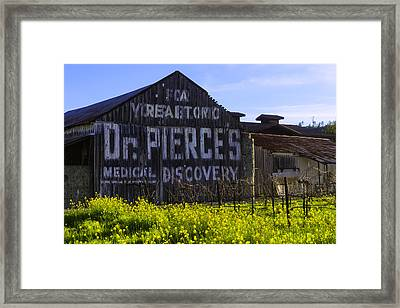 Dr Pierces Barn Framed Print by Garry Gay
