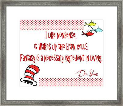 Dr Seuss Inspiration Framed Print by Dan Sproul