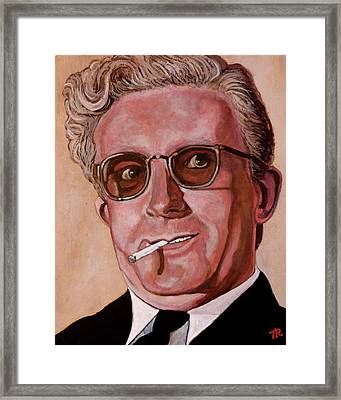 Framed Print featuring the painting Dr Strangelove 2 by Tom Roderick