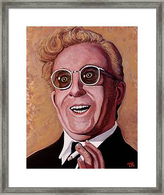 Framed Print featuring the painting Dr. Strangelove 3 by Tom Roderick