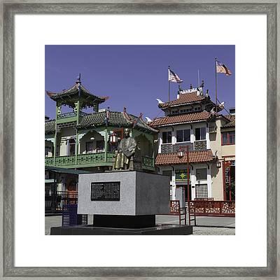 Dr Sun Yat Sen Squared Framed Print by Teresa Mucha