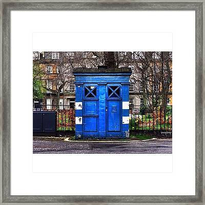 Dr Who?  #police #phonebox #phonebooth Framed Print