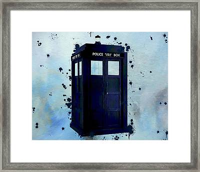 Dr Who Police Box Framed Print by Dan Sproul