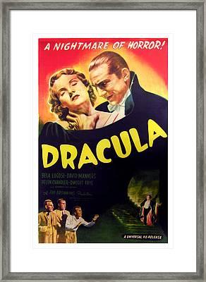 Dracula, Top From Left Helen Chandler Framed Print by Everett