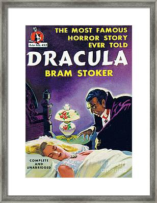 Dracula Framed Print by Unknown Artist