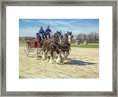 Draft Horse Driving Clinic - Kentucky Horse Park Framed Print