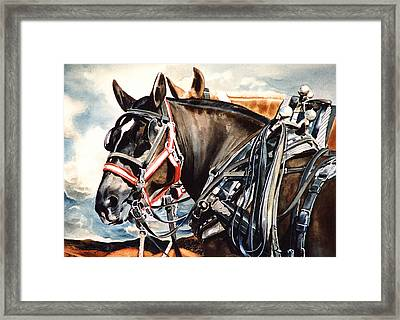 Draft Mules Framed Print